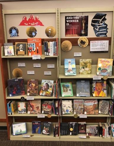 display of award winning children's books
