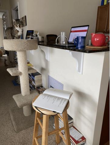kitchen counter workspace