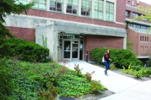 Entrance to GMP Library
