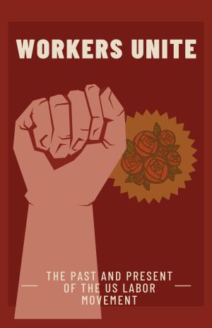 Labor movement graphic of raised fist