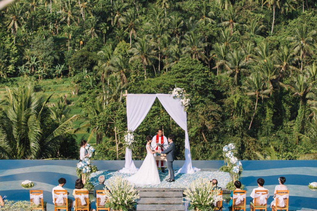 バリ島、ウブド挙式