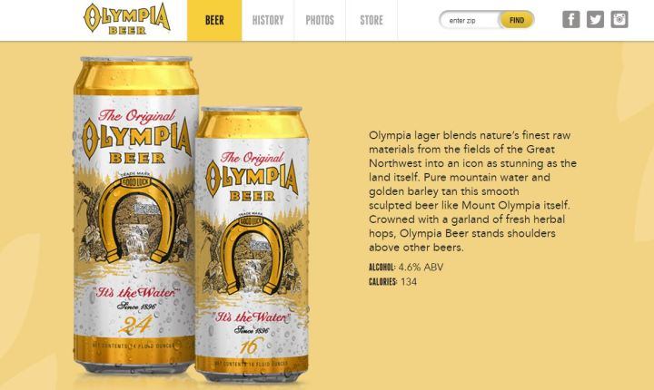 """Olympia Beer sued for """"it's in the water"""" slogan for false advertising"""