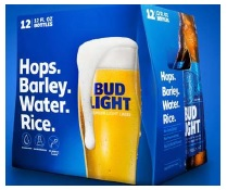 MillerCoors v Anheuser Busch Lawsuit photograph of Bud Light Packaging about corn syrup in complaint