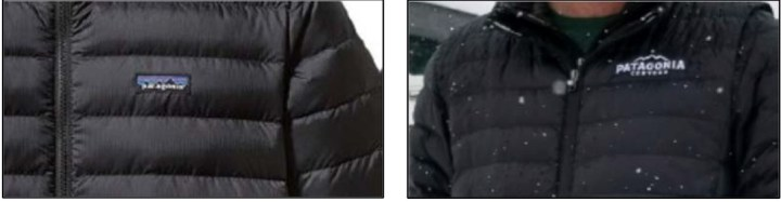 Patagonia Beer AB Lawsuit - Picture from Complaint over Trademark down jackets