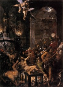 Titian, Martyrdrom of St. Lawrence, 1558, in the Church of I Gesuiti, Venice