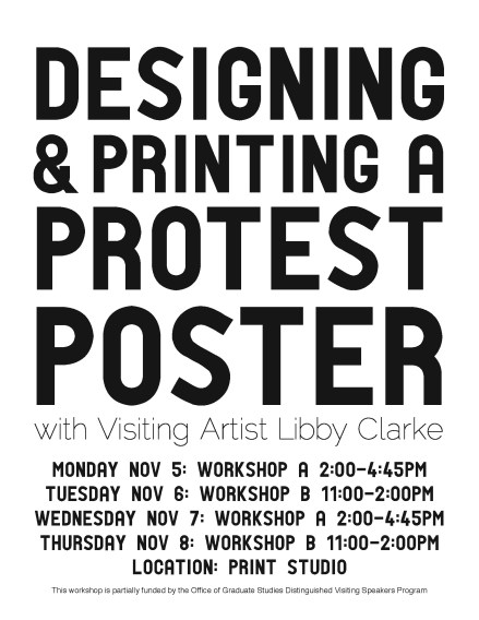 The flyer for the workshops.