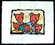 The first valentine I ever did, after the flood of 1995. I printed them in my bedroom and gave them to each person I knew.