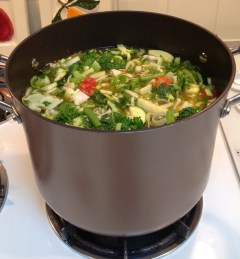 Simmer the soup for 3-5 hours.