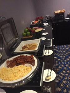 Breakfast in the HP Club Lounge