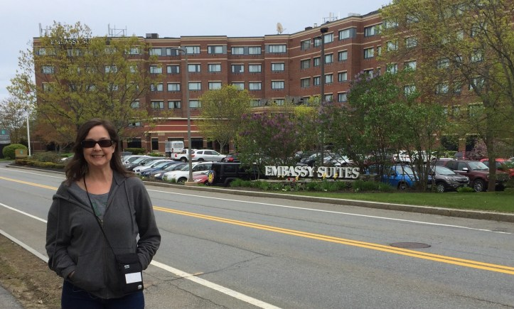 Libby standing in front of hotel