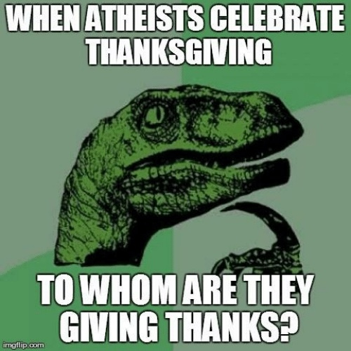 To Whom Does an Atheist Give Thanks?