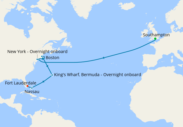 celebrity silhouette transatlantic cruise map
