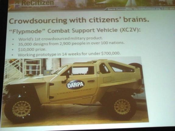 Crowdsourced Combat Vehicle