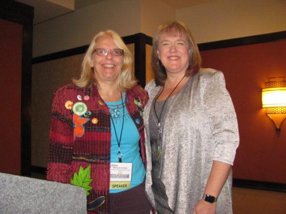 Darlene Fichter (L), Session Moderator, and Julie Stam