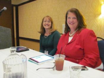 Charlotte Spinner (L) and Christine Rasmussen (R)