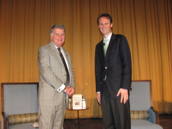 David Ferriero (L) and John Palfrey