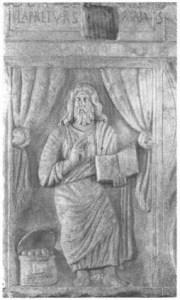 50. Iisus învăţător - sarcofag Roma 370 e.n.