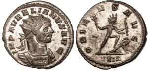 54. Aurelian personificat drept Sol Invictus
