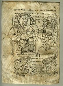 Constantin arzînd cărţile lui Arius