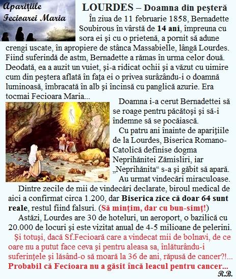 1. Fecioara Maria - Lourdes 1858