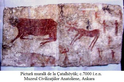10.1.7.1 Pictură murală de la Çatalhöyük; Mileniul VI î.e.n. Muzeul Civilizaţiilor anatoliene, Ankara