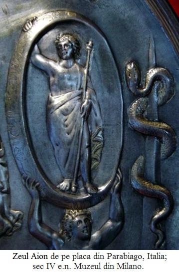 13.5.6.01 Zeul Aion de pe placa din Parabiago, Italia; sec IV e.n. Muzeul din Milano.
