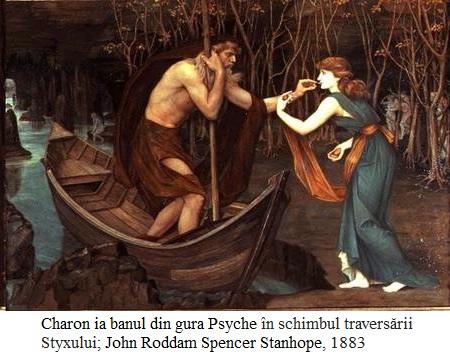 2.3.10 Charon ia banul din gura Psyche în schimbul traversării Styxului. John Roddam Spencer Stanhope, 1883
