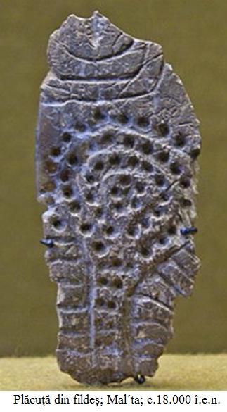 2.4.4.1 Plăcuţă din fildeş de la Mal´ta; c.18.000 î.e.n.