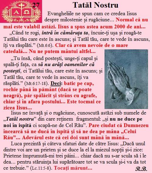 27. Tatăl Nostru