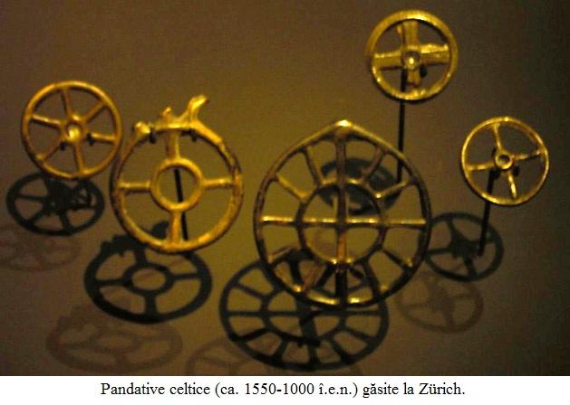 3.1.1.1 Pandative celtice (ca. 1550-1000 î.e.n.) găsite la Zürich.
