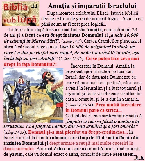 44. Amaţia şi împăraţii Israelului