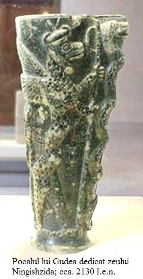 8.2.4.1 Pocalul lui Gudea dedicat zeului Ningishzida; cca. 2000 î.e.n.