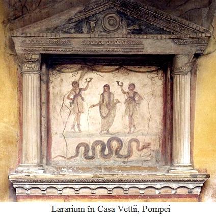 8.6.4.1 Lararium în Casa Vettii, Pompei