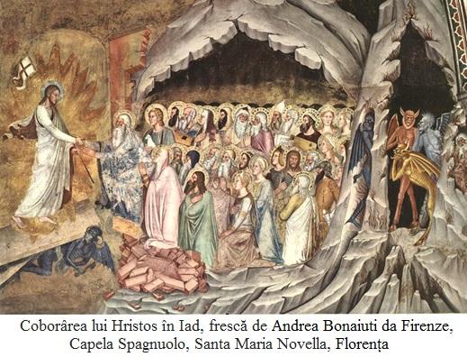 9.5.5.0 Coborârea lui Hristos în Iad, frescă de Andrea Bonaiuti da Firenze, Capela Spagnuolo, Santa Maria Novella, Florența
