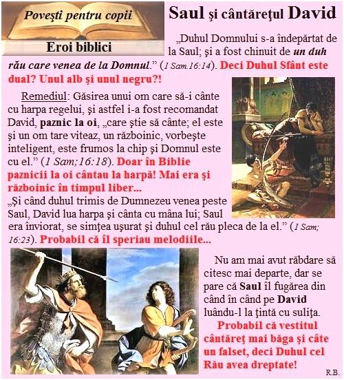 E11a.Eroi biblici-Saul şi cântăreţul David
