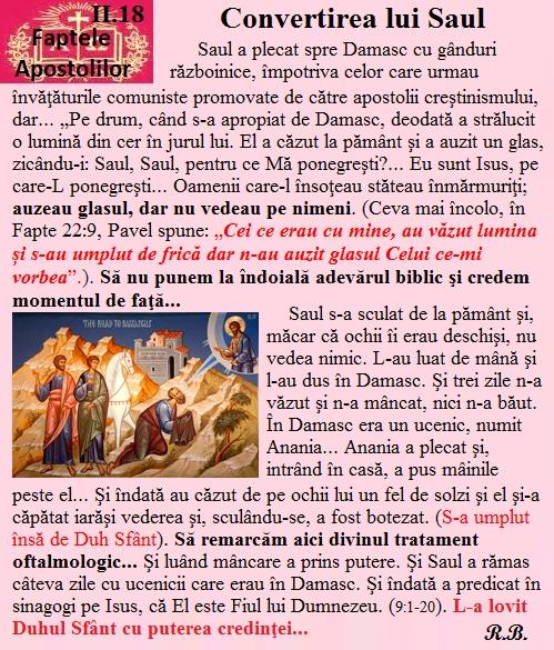 II.18. Convertirea lui Saul