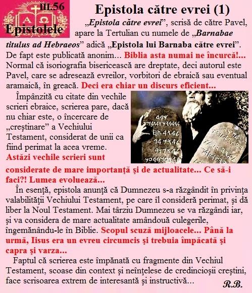 III.56. Epistola către evrei (1)