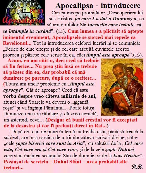 IV.13. Apocalipsa - introducere