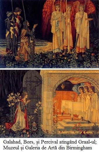 17.1.6.01 Galahad, Bors, şi Percival atingând Graal-ul; Tapiserie 1891-94; Muzeul și Galeria de Artă din Birmingham