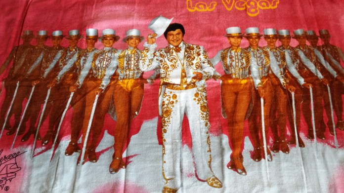 Liberace and the Rockettes Las Vegas Beach Towel