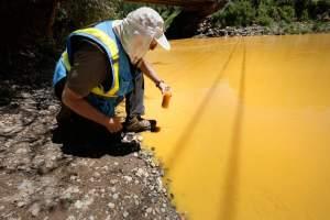 animas river chemtrail orange