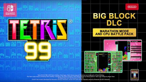 Tetris 99 Big Block DLC - September Games