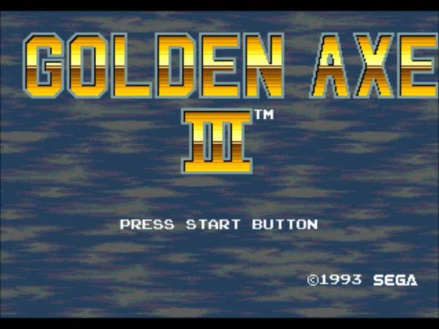 Golden Axe 3 - Mega Drive