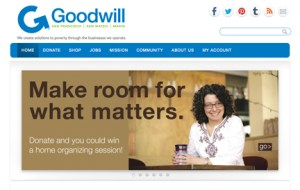 Homepage of Goodwill of San Francisco