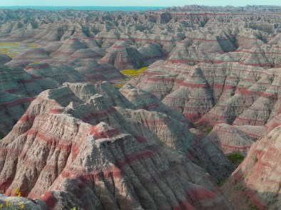 Sedimentary Rock at the Badlands