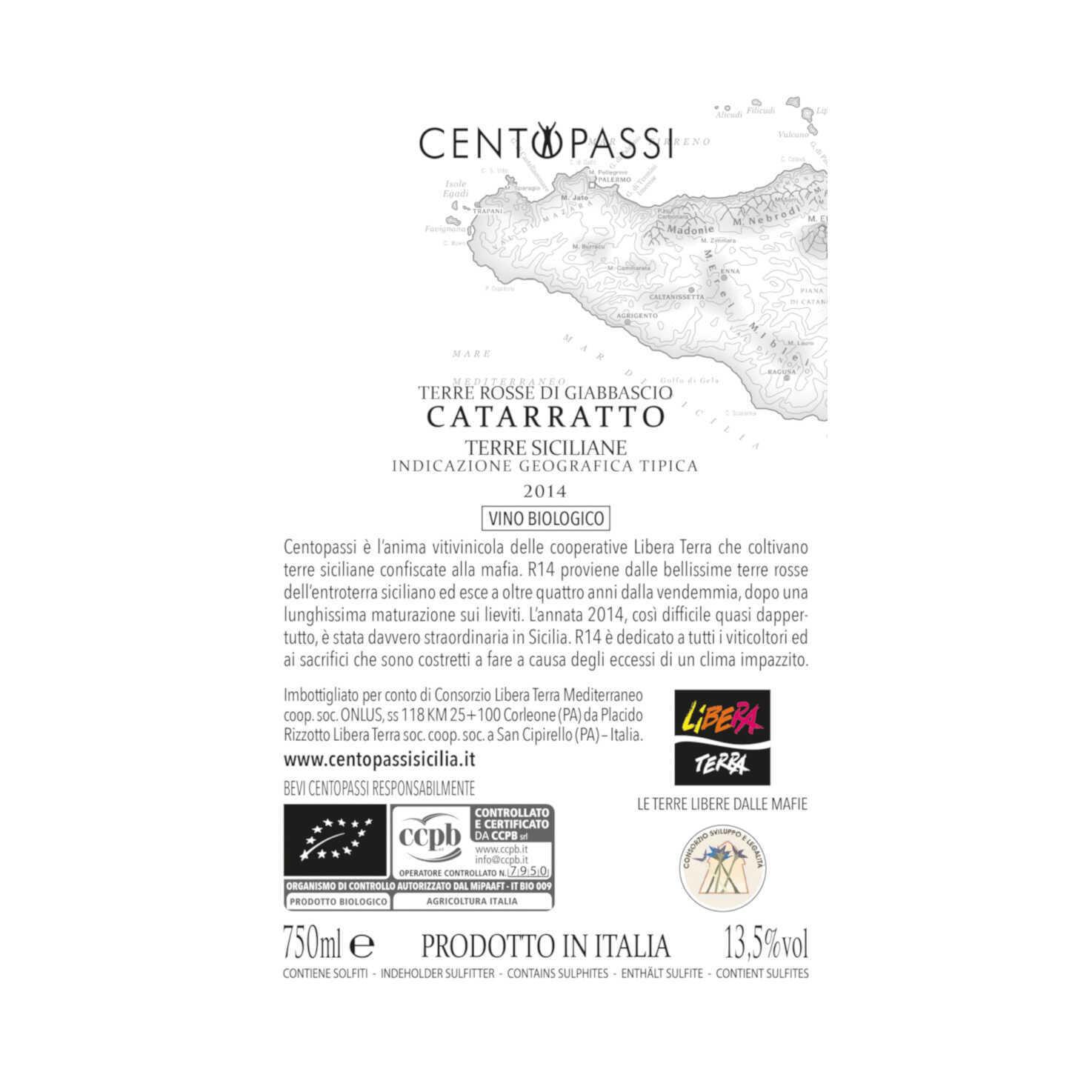 Catarratto – Terre Rosse di Giabbascio R14 – IGT Terre Siciliane 2014 75cl