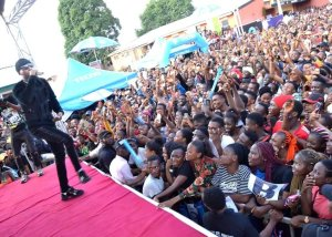Victor Ad rock Auchi poly at TECNO thank – you concert