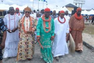 Ogbe-Ijoh Warri Kingdom Mornarch celebrates coronation anniversary, confers chieftaincy titles, preaches peace