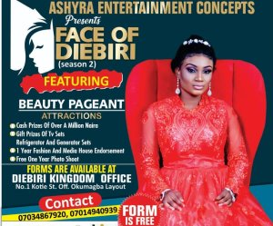 Ashyra urges Ijaw girls to take advantage of Face of Diebiri beauty pageant show