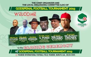 Godspenal 2019 Football Tournament: Okowa, Otuaro, Pondi, Forteta, Agediga, others to storm Youbebe for grand finale today